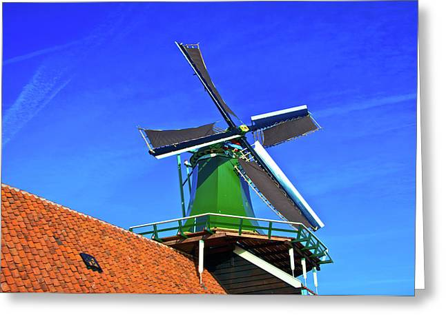 Greeting Card featuring the photograph De Huisman Spice Mill by Jonah  Anderson