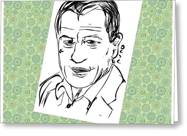 De Niro Sketch Greeting Card by Nuno Marques