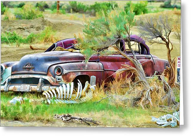 Dead Car Greeting Card