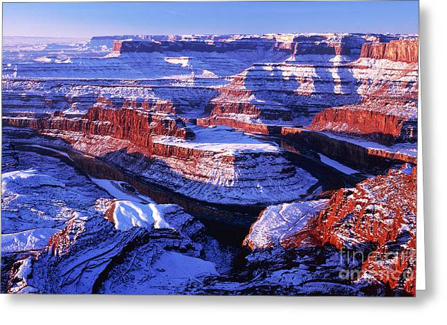 Dead Horse Point At New Year Day Greeting Card