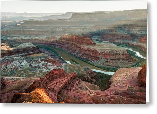 Dead Horse Point At Sunset Greeting Card