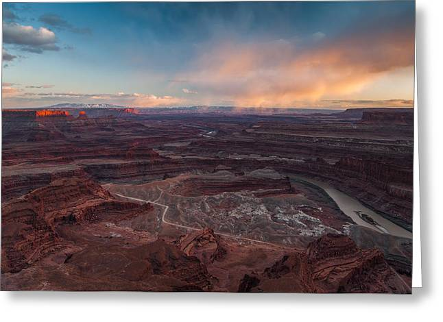 Dead Horse Point Sunset Greeting Card by Joseph Rossbach