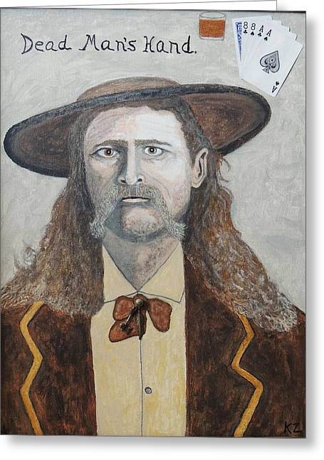 Dead Man's Hand.james Butler Hickok. Greeting Card by Ken Zabel