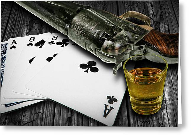 Dead Man's Poker Hand Greeting Card
