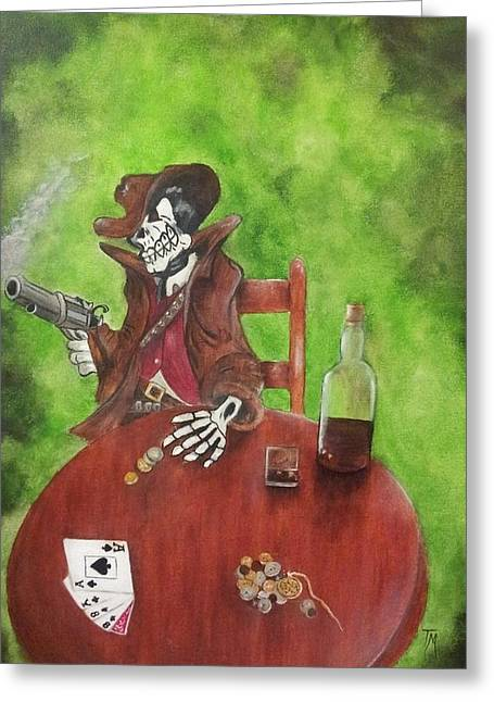 Dead Man's Poker Party Greeting Card