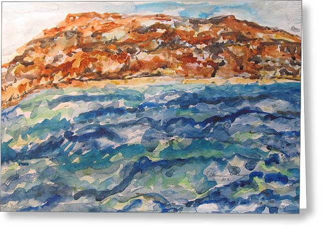 Dead Sea Reflections Greeting Card by Esther Newman-Cohen