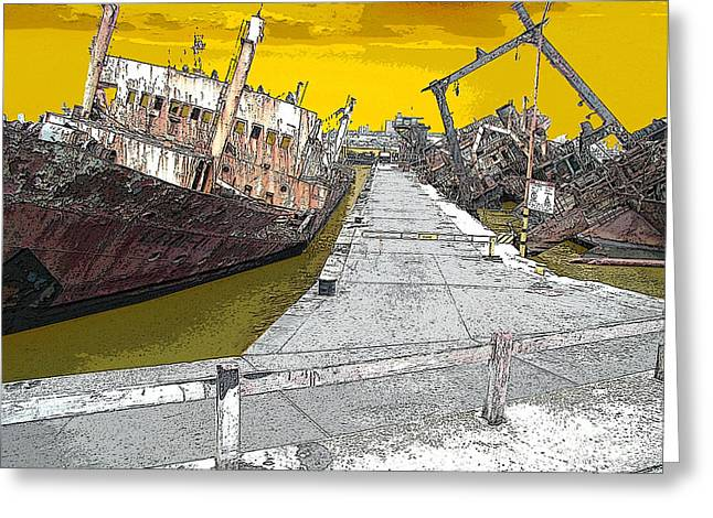 Dead Ship 2 Greeting Card by Gustavo Mazzoni