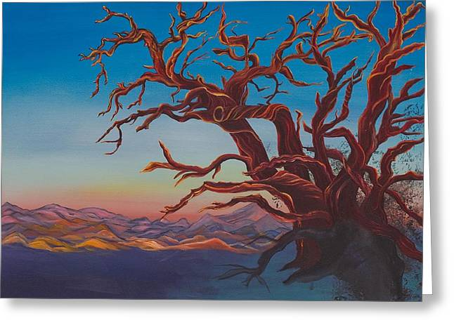 Dead Tree Greeting Card by Yolanda Raker