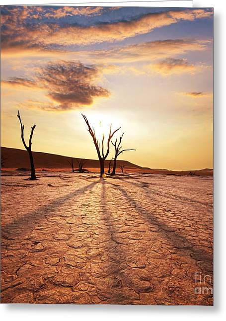 Dead Valley Area Greeting Card by Boon Mee