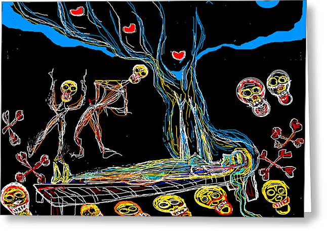 Deadly Dream Greeting Card by Anand Swaroop Manchiraju