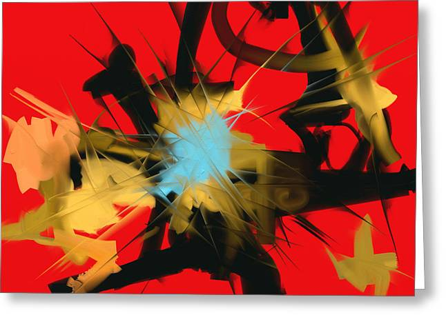 Greeting Card featuring the digital art Deadly Fight by Martina  Rathgens