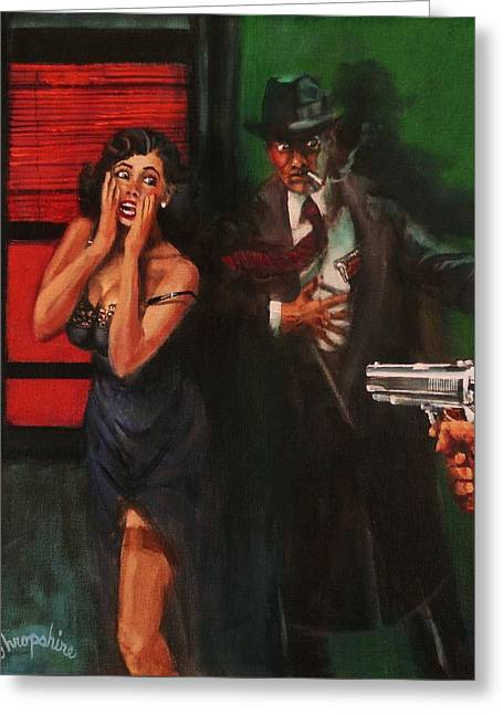 Deadly Surprise Greeting Card by Tom Shropshire