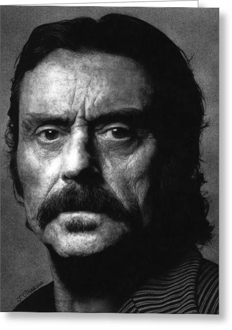 Deadwood - Al Swearengen Greeting Card by Justin Clark