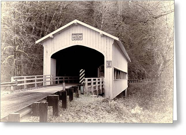 Deadwood Covered Bridge Greeting Card
