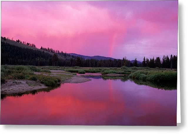 Deadwood River Greeting Card by Leland D Howard