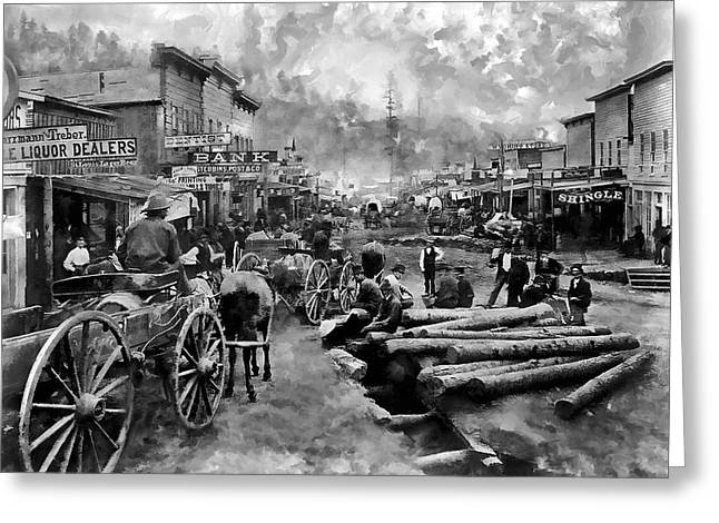Deadwood South Dakota Around 1876 Greeting Card by Daniel Hagerman