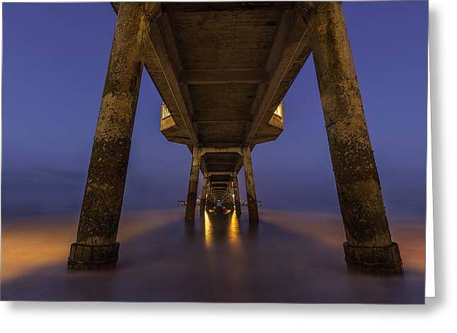 Deal Pier At Night Greeting Card