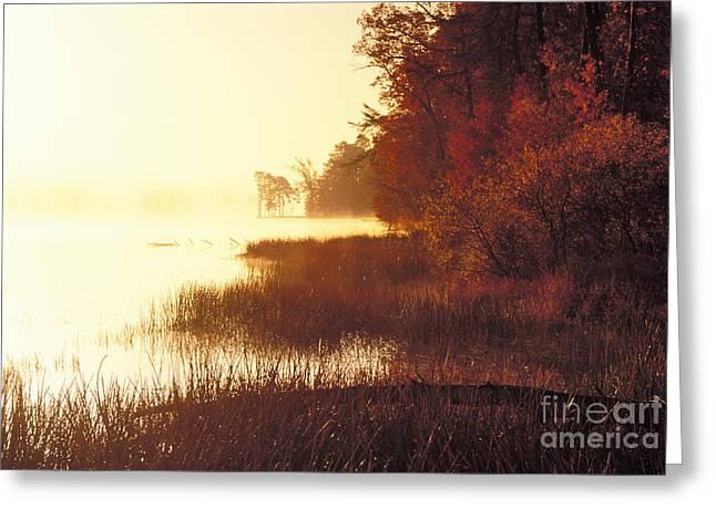 Deam Lake Sunrise - Fs000480a Greeting Card by Daniel Dempster