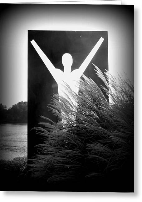 Death And Resurrection Of The Heart - Black And White Greeting Card by Joseph Skompski