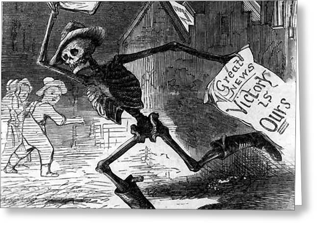 Death As A Richmond Newsboy  Greeting Card by Richmond News