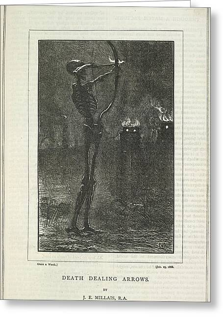 Death Dealing Arrows Greeting Card by British Library