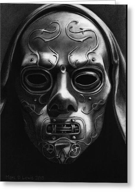 Harry Potter - Death Eater Mask Greeting Card
