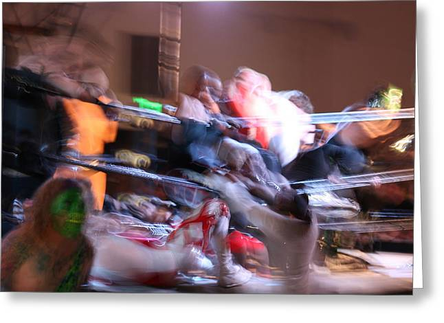 Greeting Card featuring the photograph Rumble by Cynthia Marcopulos