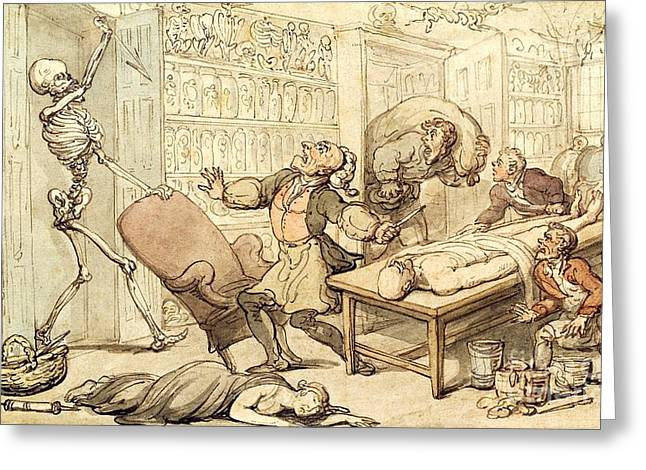 Death In The Dissecting Room, 1816 Greeting Card by Spencer Collection