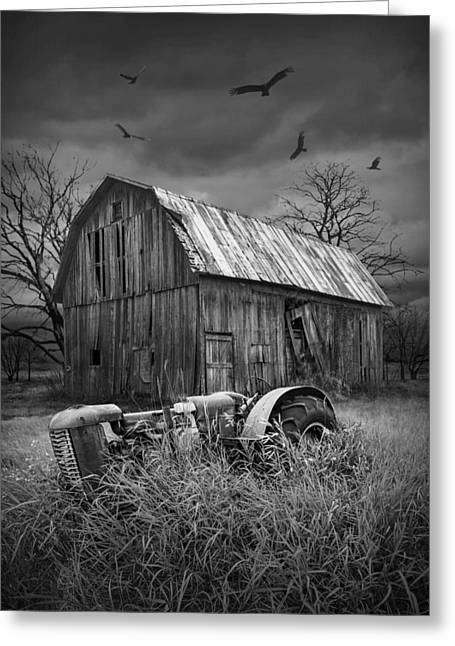 Death Of A Midwest Farm Greeting Card by Randall Nyhof