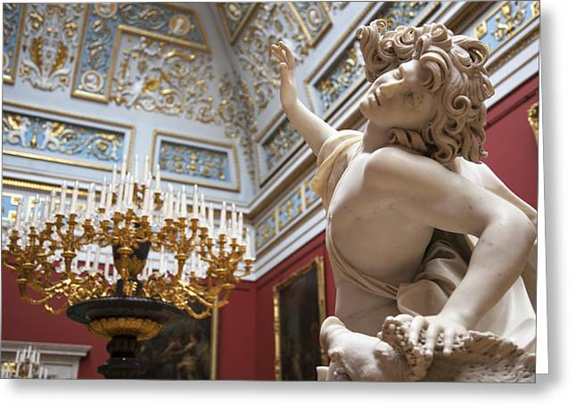 Death Of Adonis - The Hermitage Museum - St. Petersburg Greeting Card by Madeline Ellis