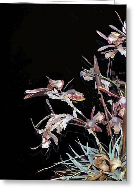 Death Of An Orchid  Greeting Card