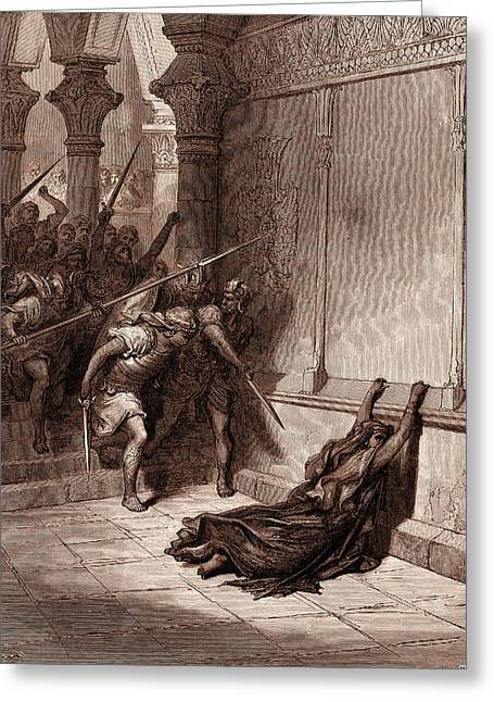 Death Of Athaliah, By Gustave Dore, 1832 - 1883 Greeting Card