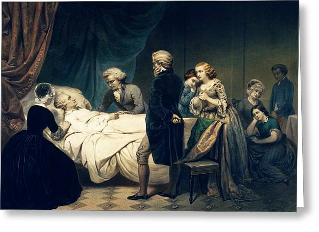 Death Of George Washington Greeting Card by Library Of Congress