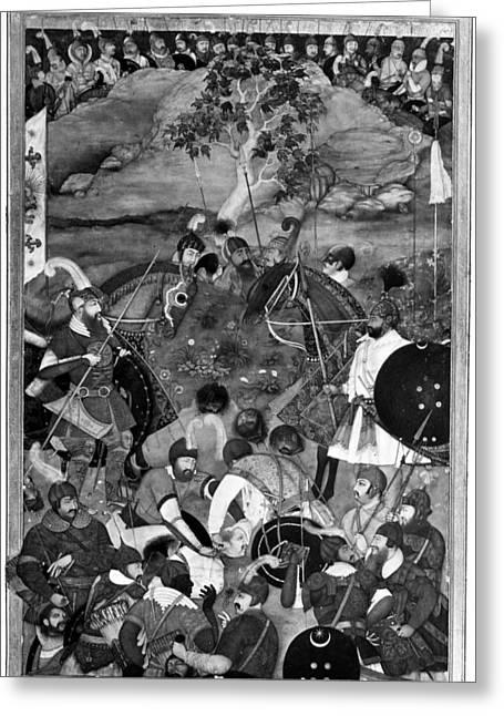 Death Of Khan Jahan Lodi Greeting Card by Granger