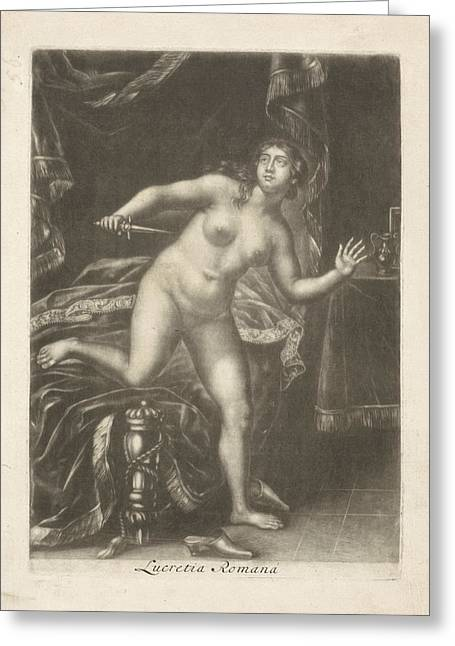 Death Of Lucretia, Jacob Gole Greeting Card