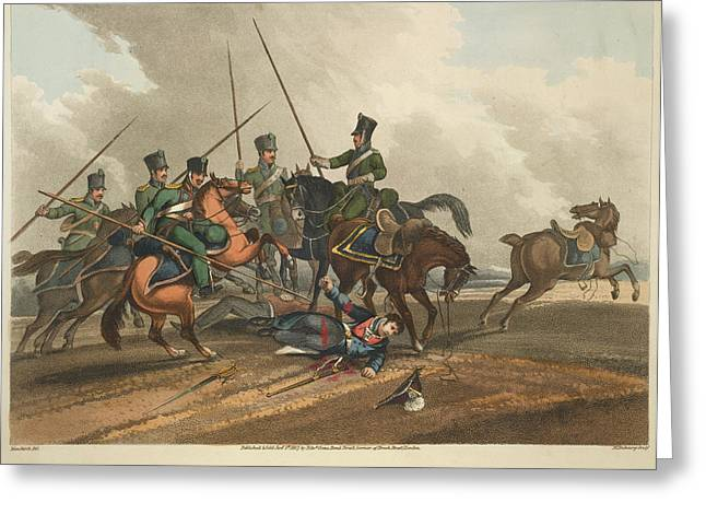 Death Of Major Gen. Ponsonby Greeting Card by British Library