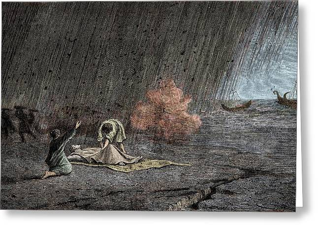 Death Of Pliny The Elder Greeting Card