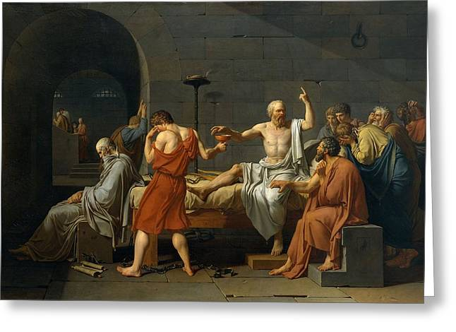 Death Of Socrates Greeting Card by Jacques Louis David