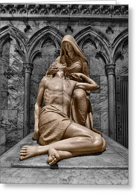 Death Of The Son Of God Greeting Card by Lee Dos Santos