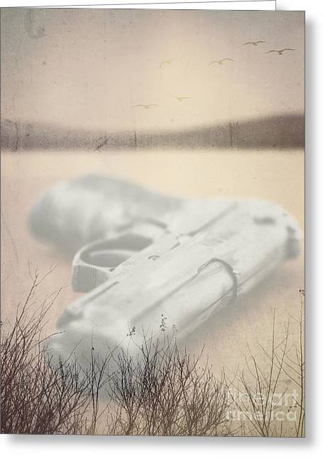 Death On Solid Water Greeting Card by Edward Fielding