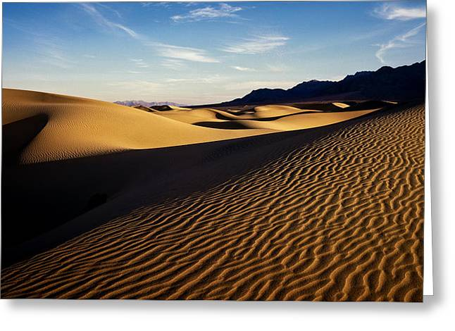 Death Valley Greeting Card by Erik Poppke