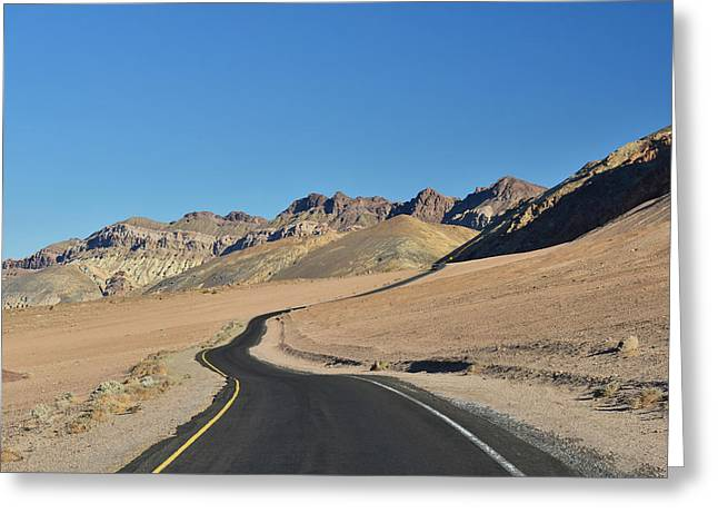 Greeting Card featuring the photograph Death Valley Meander by Dana Sohr