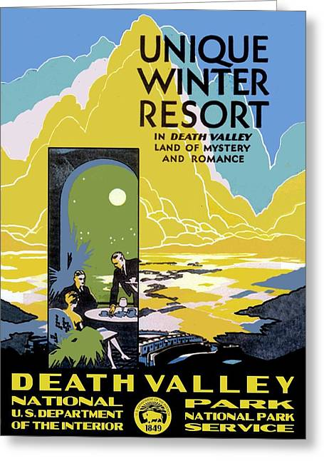Death Valley National Park Vintage Poster Greeting Card by Eric Glaser