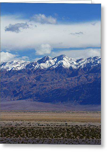 Death Valley Near Stovepipe Wells Greeting Card by David Wall