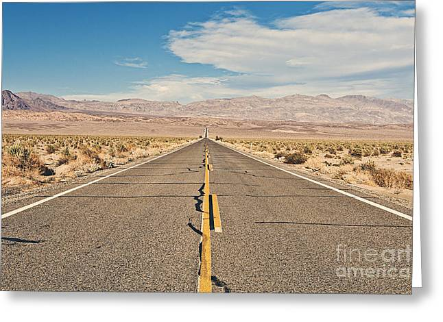 Death Valley Road Greeting Card