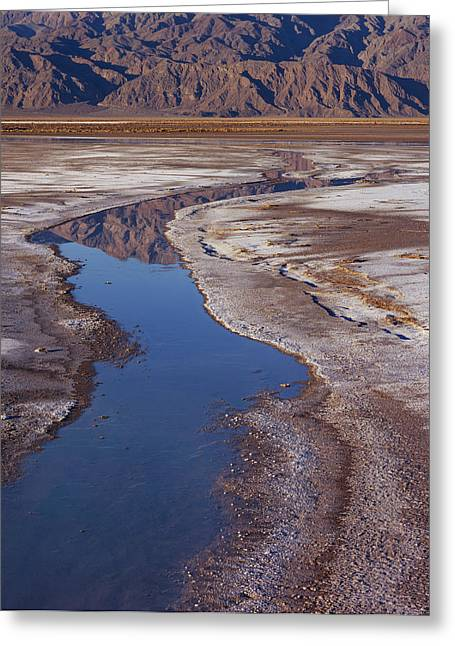 Death Valley Salt Stream 1 Greeting Card