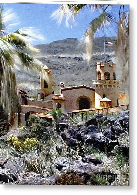 Death Valley Scotty's Castle Greeting Card by Bob and Nadine Johnston