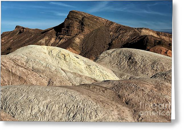 Death Valley Shapes Greeting Card by John Rizzuto