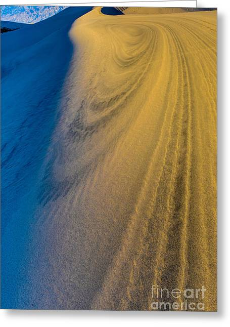 Death Valley Sunset Dune Wind Spiral Greeting Card