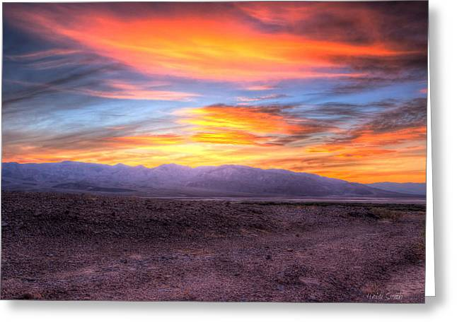 Death Valley Sunset Greeting Card by Heidi Smith